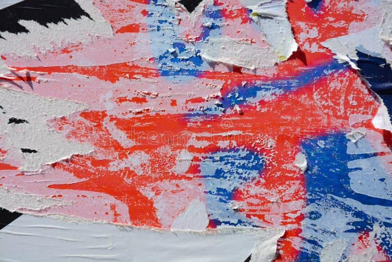 Плакаты сорванные конспектом стоковые изображения