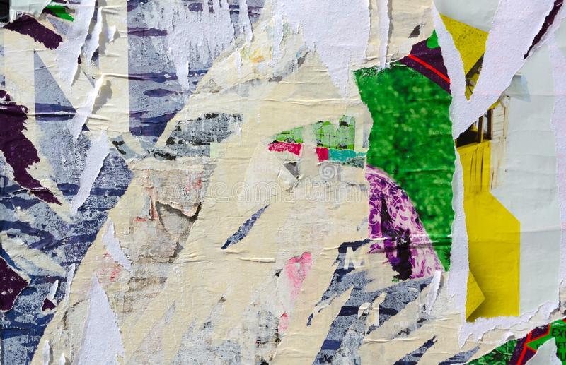 Плакаты сорванные конспектом стоковое изображение