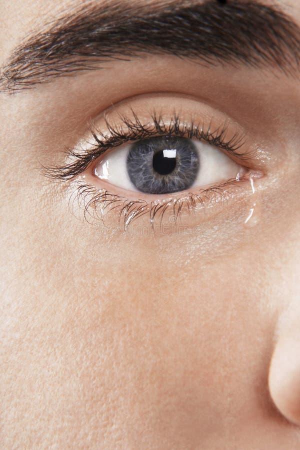 Плакать глаза человека стоковое фото rf