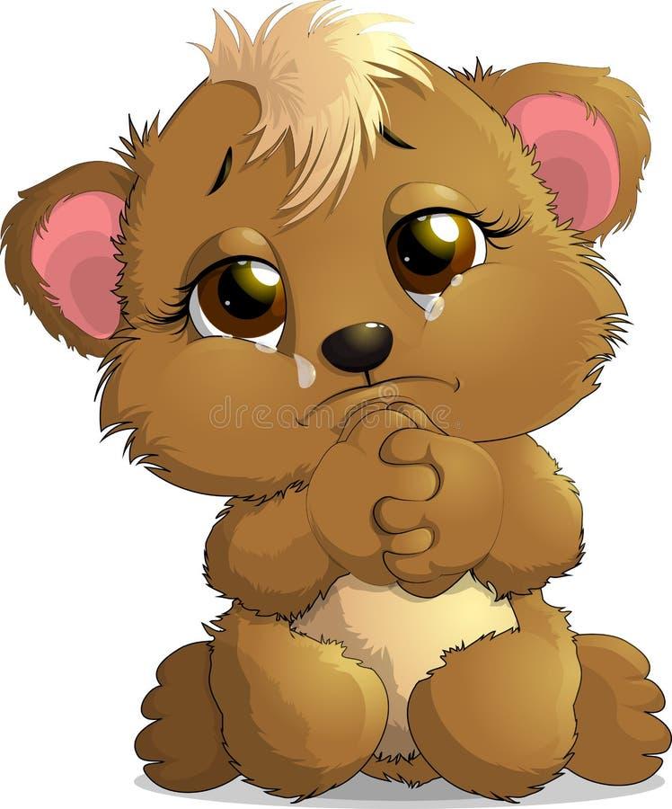 Открытки грустный мишка