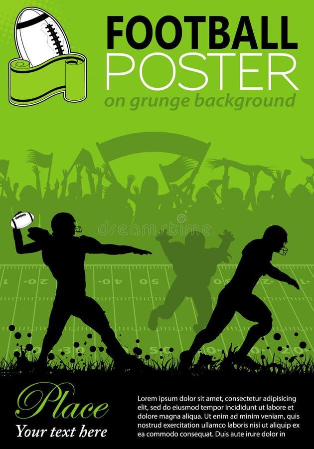 Плакат американского футбола иллюстрация вектора