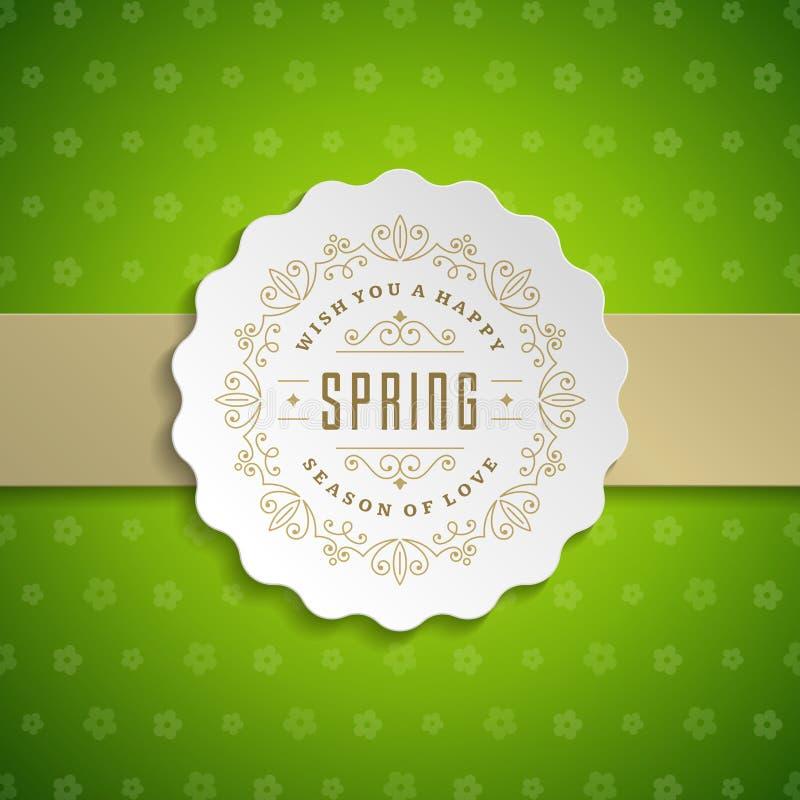 Плакат вектора весны типографский или дизайн поздравительной открытки иллюстрация штока