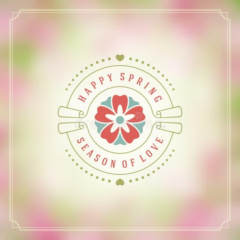 Плакат вектора весны типографский или дизайн поздравительной открытки бесплатная иллюстрация
