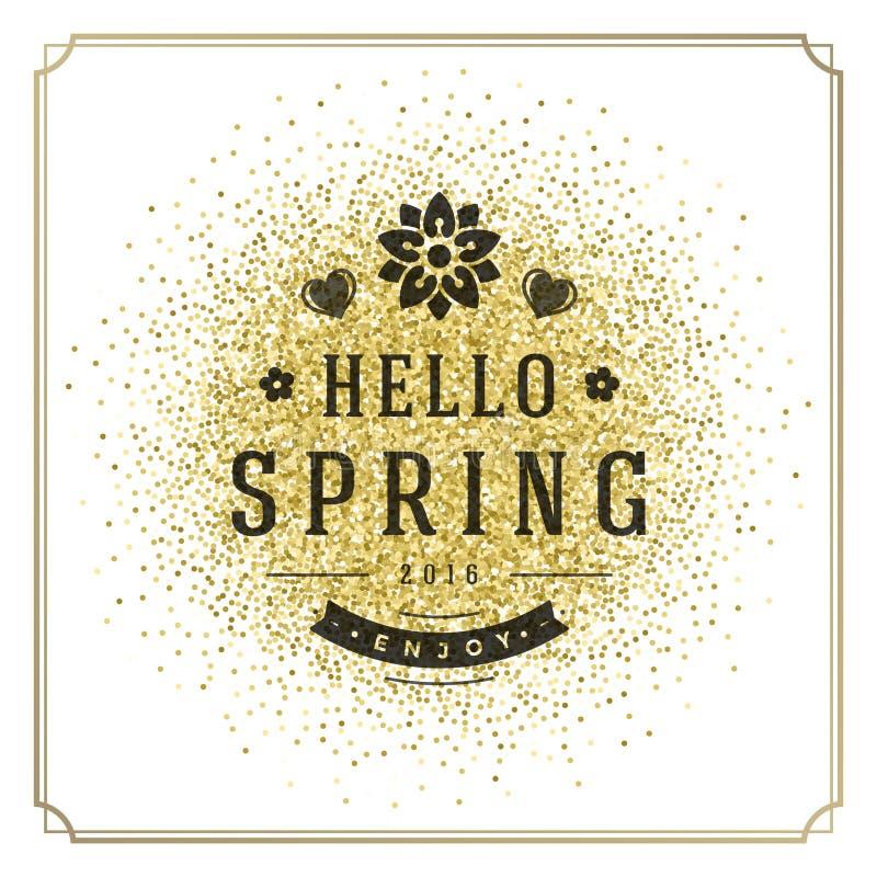Плакат вектора весны типографский или дизайн поздравительной открытки иллюстрация вектора