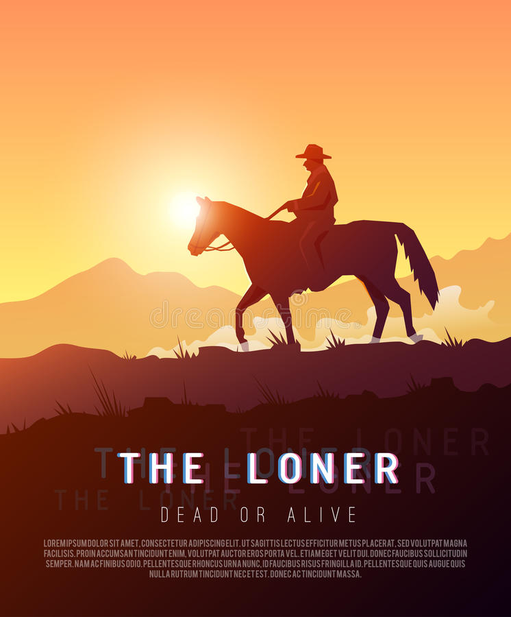 Плакат вектора Диких Западов бесплатная иллюстрация