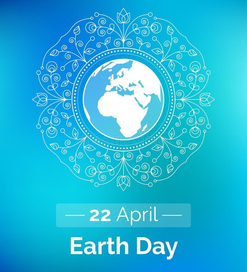 Плакат вектора на 22-ое апреля, день земли иллюстрация вектора