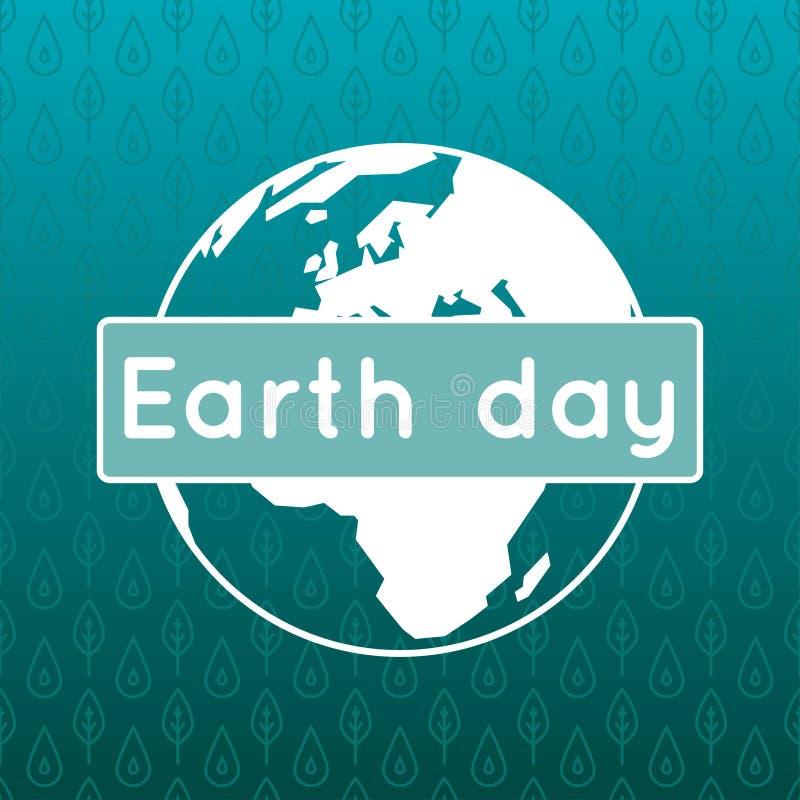 Плакат вектора на 22-ое апреля, день земли бесплатная иллюстрация