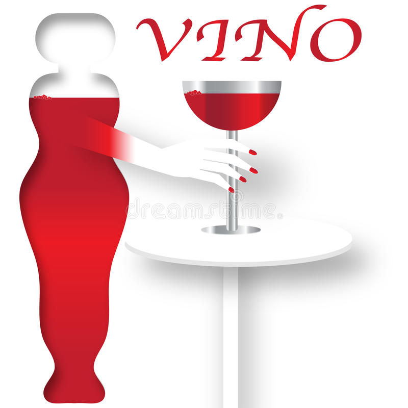 Плакат вина иллюстрация вектора