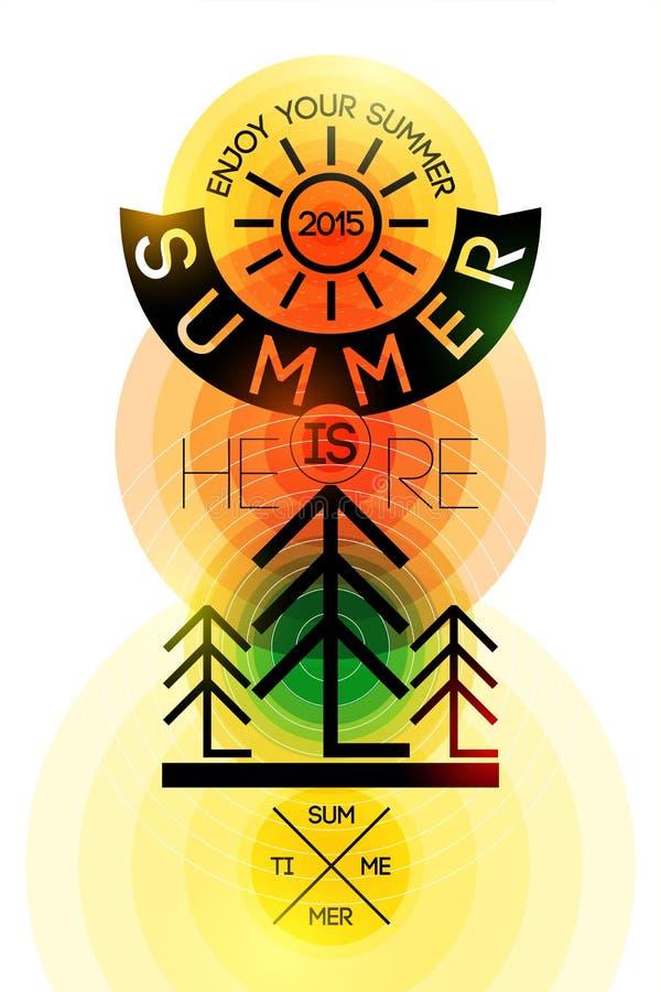 Плакат временени ретро Дизайн вектора типографский с красочной предпосылкой круга 10 eps иллюстрация штока