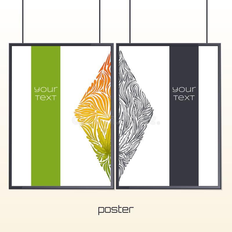 Плакат в рамке 3 бесплатная иллюстрация