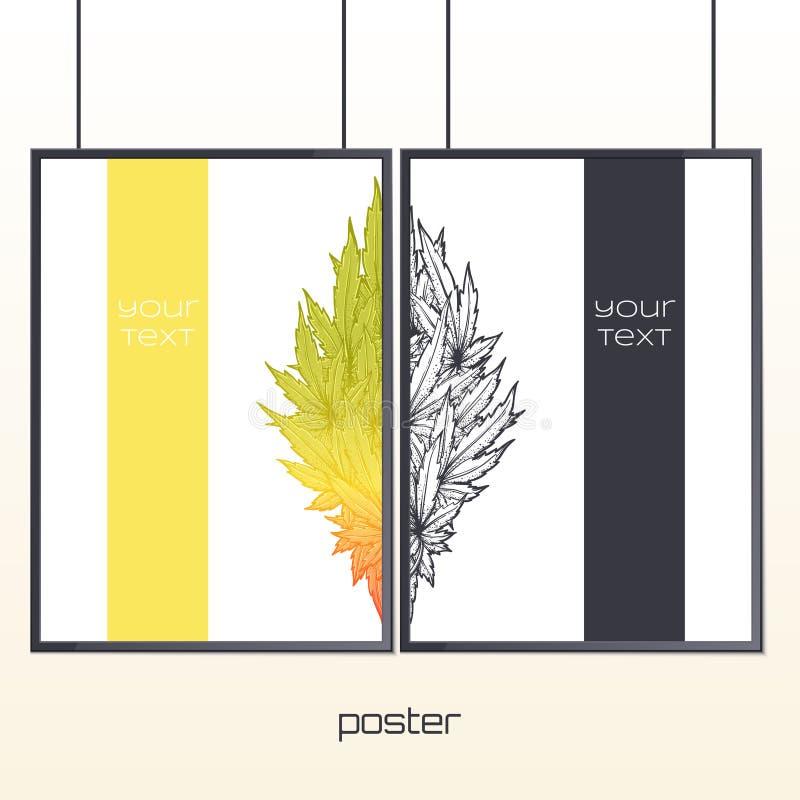 Плакат в рамке 2 иллюстрация вектора