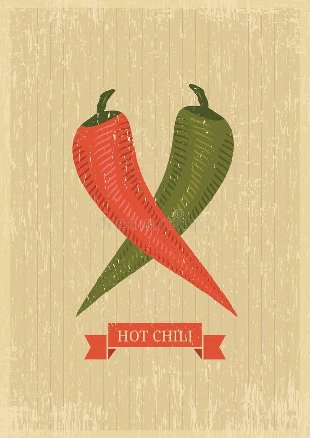 Плакат горячего chili бесплатная иллюстрация