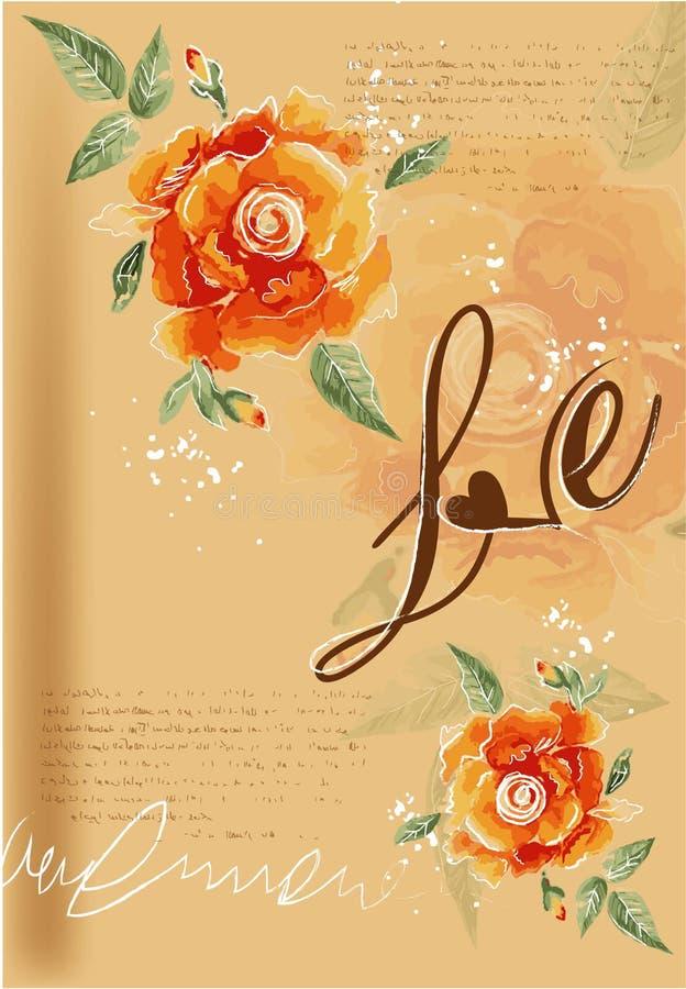 Плакат года сбора винограда влюбленности вектора бесплатная иллюстрация