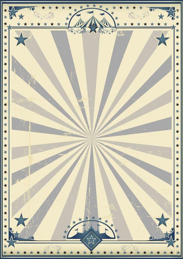 Плакат года сбора винограда цирка цирка иллюстрация вектора