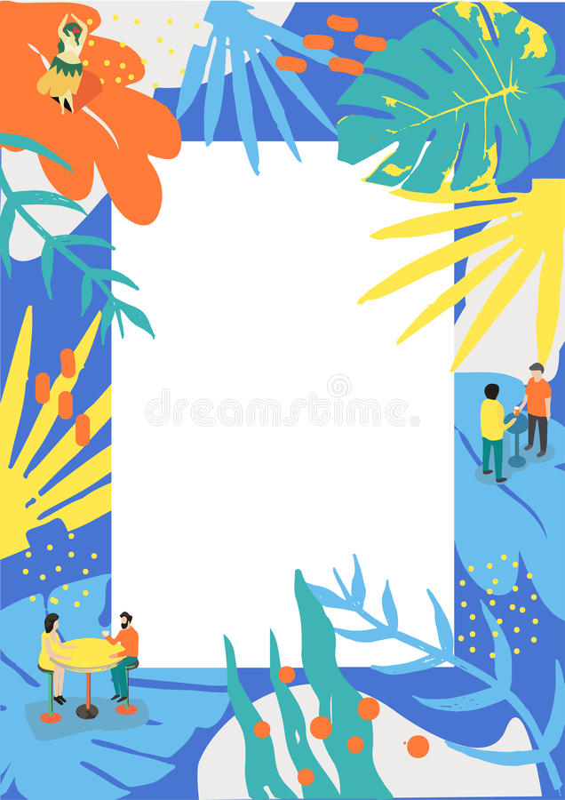 Плакат лета для события музыки и для меню лета стоковое фото rf