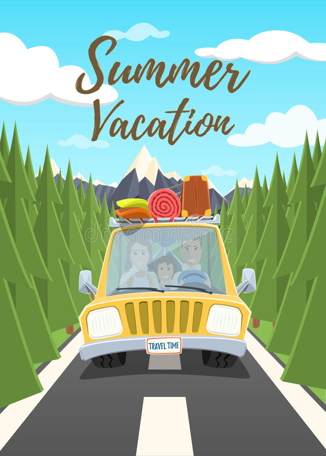 Плакат летних каникулов иллюстрация штока