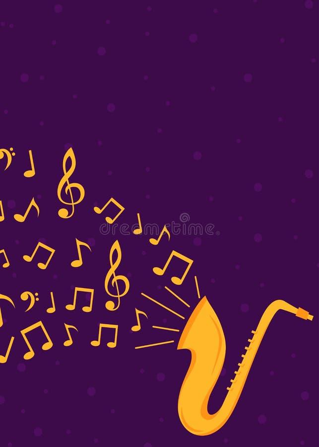 Плакат и рогулька джазовой музыки иллюстрация штока