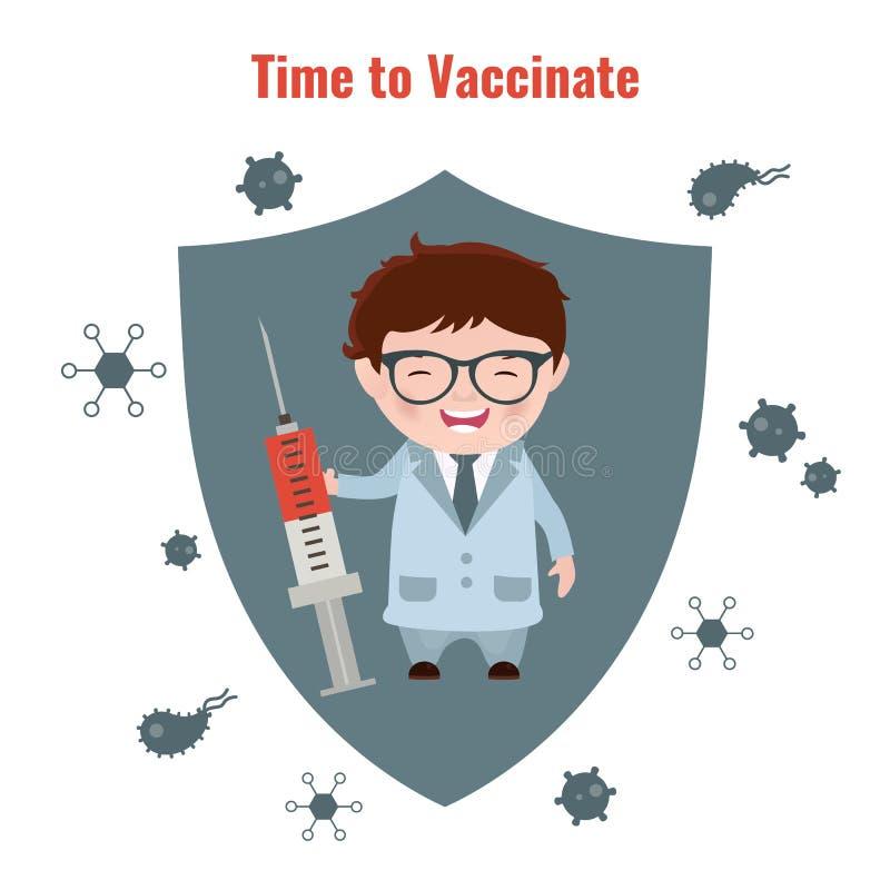 Плакат концепции вакцинирования бесплатная иллюстрация