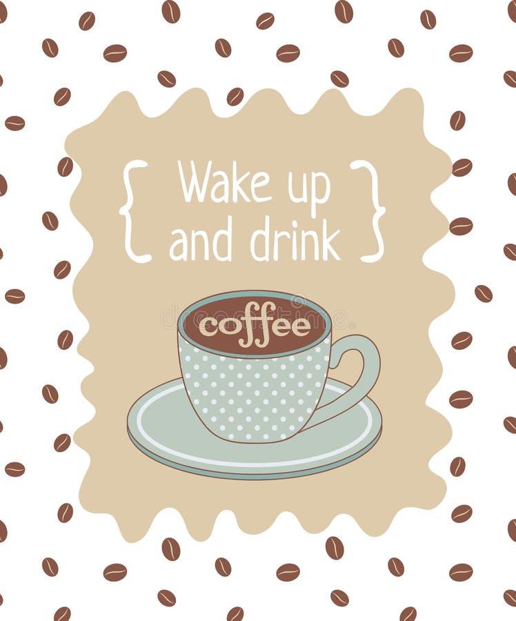Плакат кофе бесплатная иллюстрация