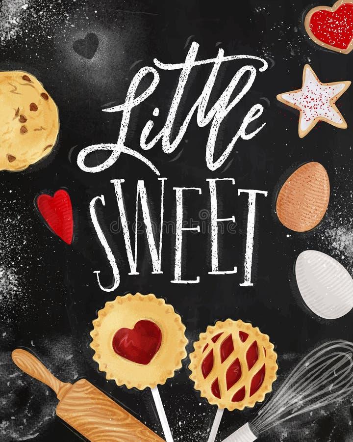 Плакат меньший сладостный мел бесплатная иллюстрация