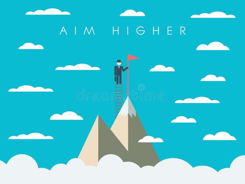 Плакат мотивировки полета карьеры или дела иллюстрация штока