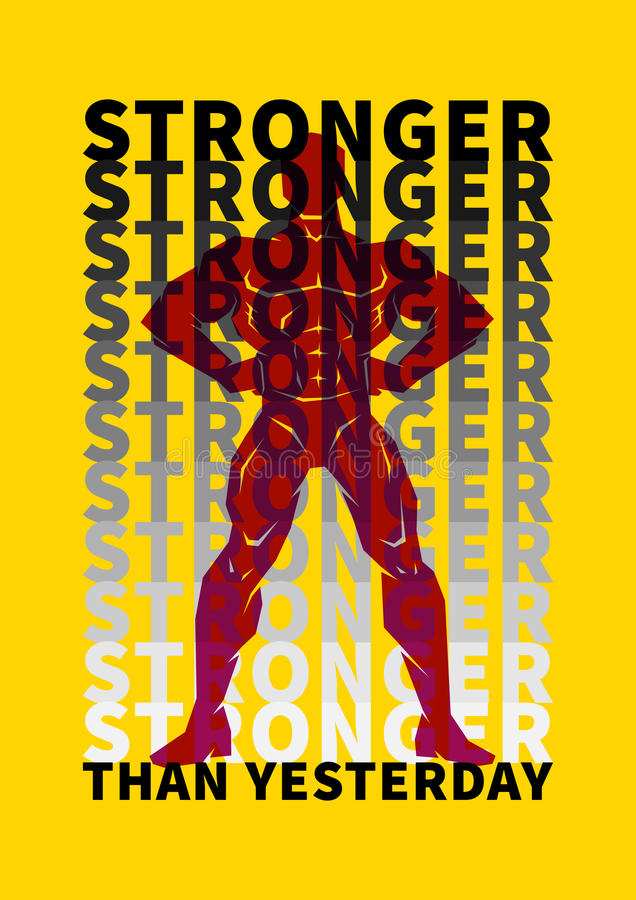 Плакат мотивировки спорта иллюстрация штока