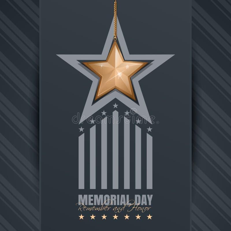 Плакат на День памяти погибших в войнах иллюстрация штока