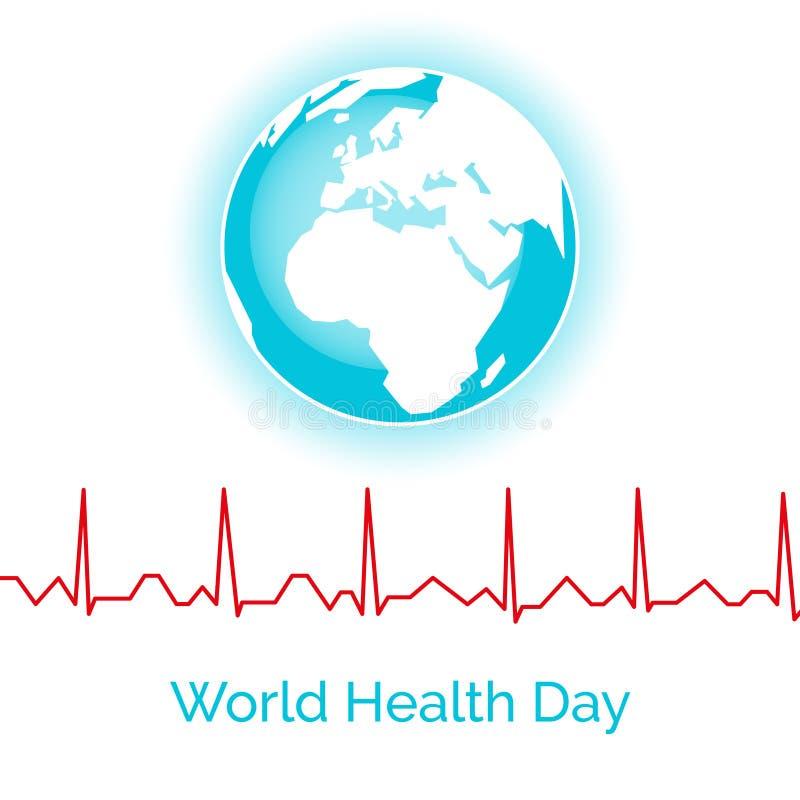 Плакат на день здоровья мира иллюстрация штока