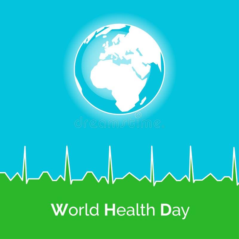 Плакат на день здоровья мира бесплатная иллюстрация