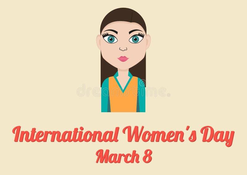 Плакат на Международный женский день (8-ое марта) иллюстрация вектора
