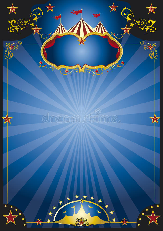 Плакат ночи цирка иллюстрация вектора