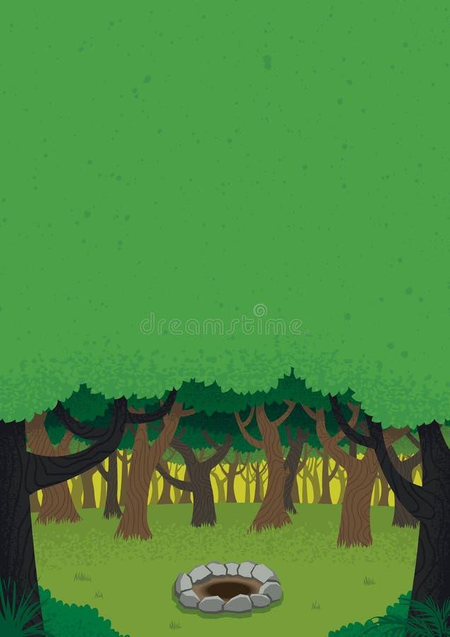 Плакат дня леса иллюстрация вектора