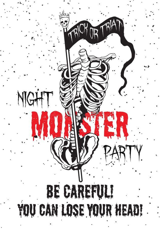 Плакат партии изверга ночи иллюстрация штока