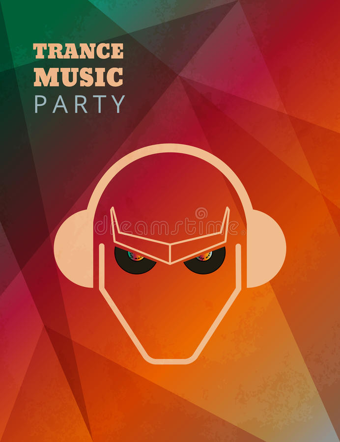 Плакат партии музыки транса бесплатная иллюстрация
