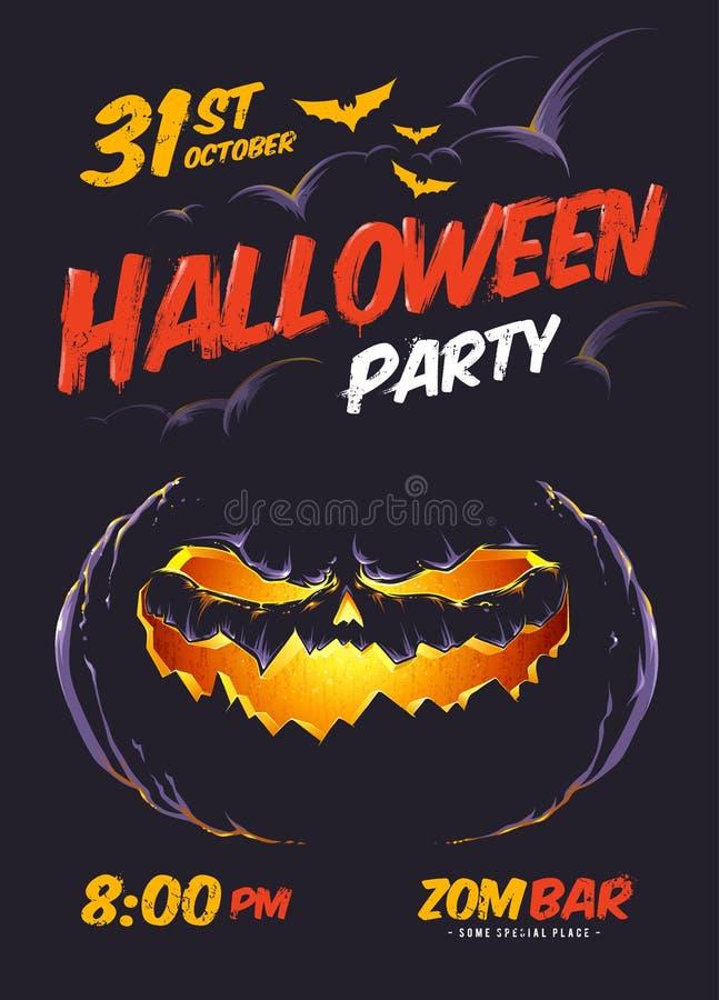 Плакат партии хеллоуина иллюстрация вектора