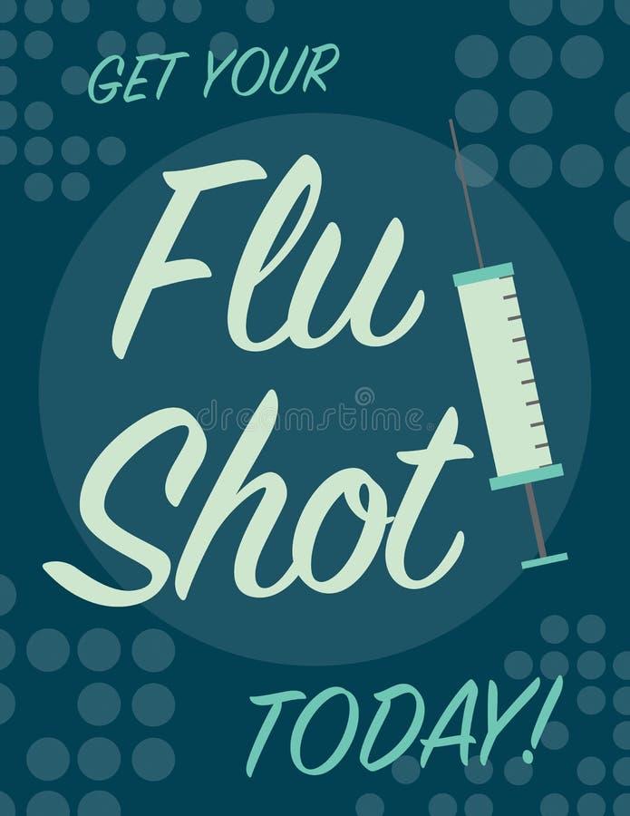 Плакат прививки от гриппа иллюстрация вектора