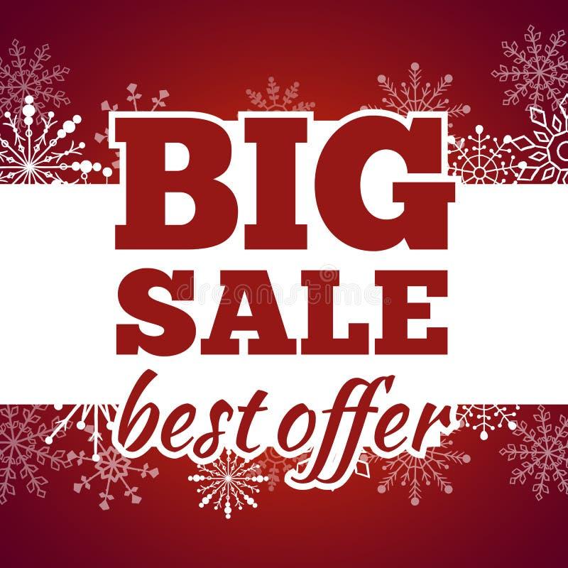 Плакат продажи зимы также вектор иллюстрации притяжки corel бесплатная иллюстрация