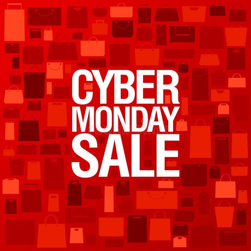 Плакат продажи Syber понедельника бесплатная иллюстрация