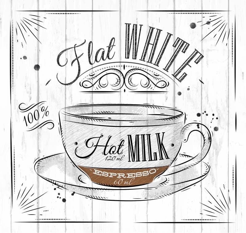 Плакат плоско белый бесплатная иллюстрация
