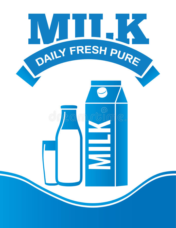 Плакат рекламы поставки молока стоковая фотография rf