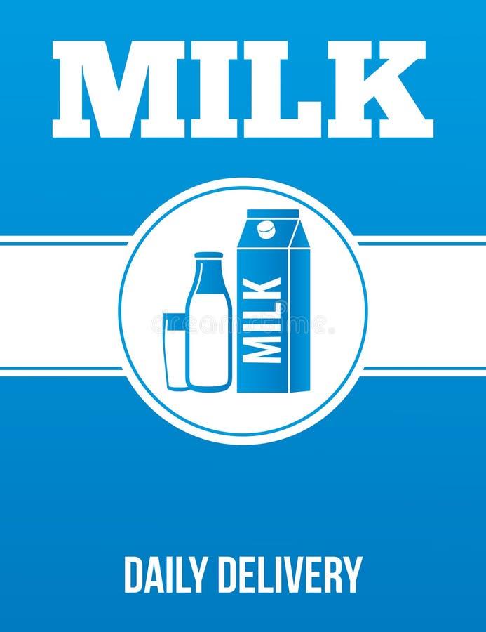 Плакат рекламы поставки молока стоковое фото