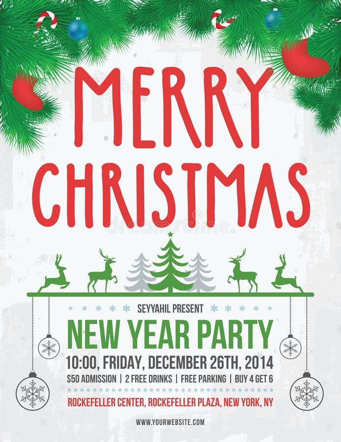 Плакат рождества бесплатная иллюстрация