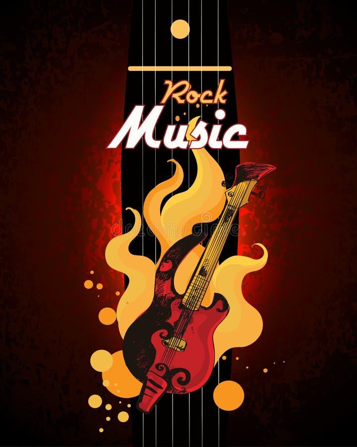 плакат рок-музыки иллюстрация вектора
