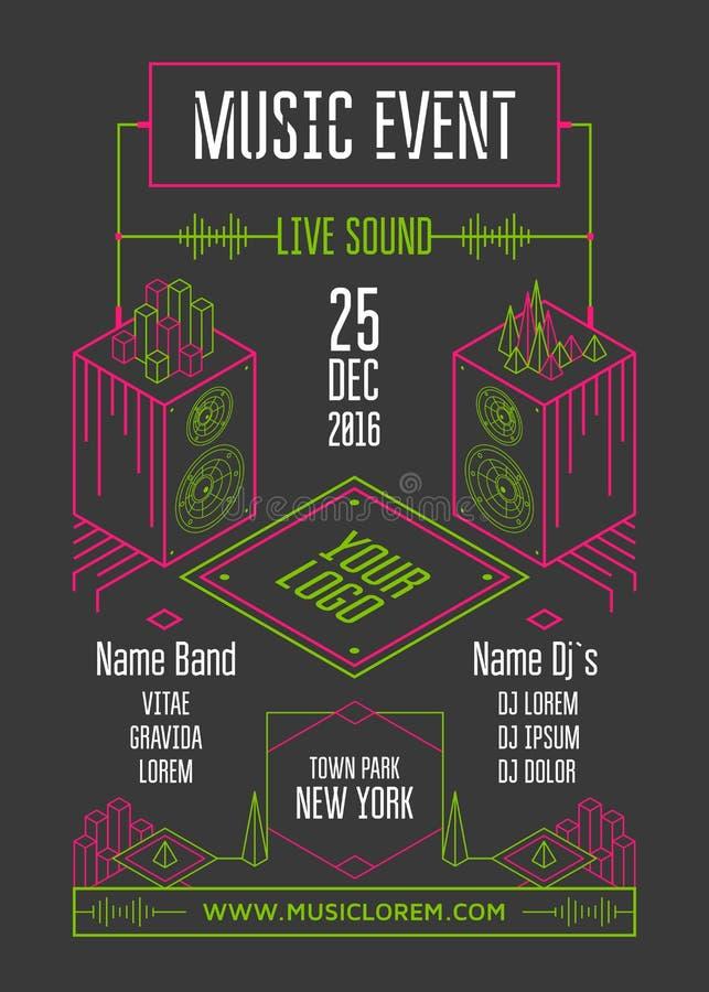 Плакат события музыки иллюстрация вектора