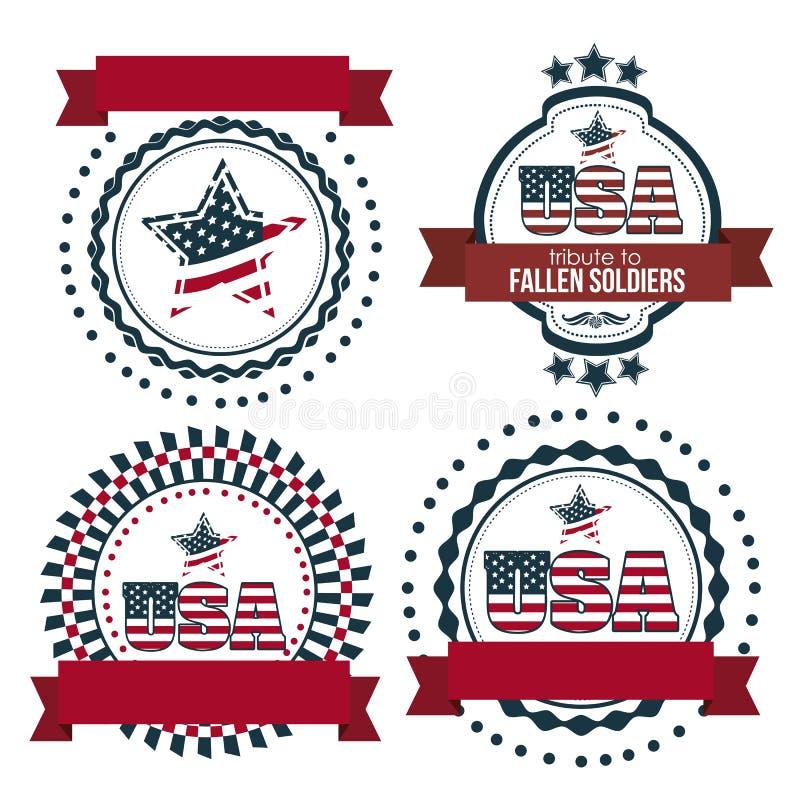 Плакат США иллюстрация штока