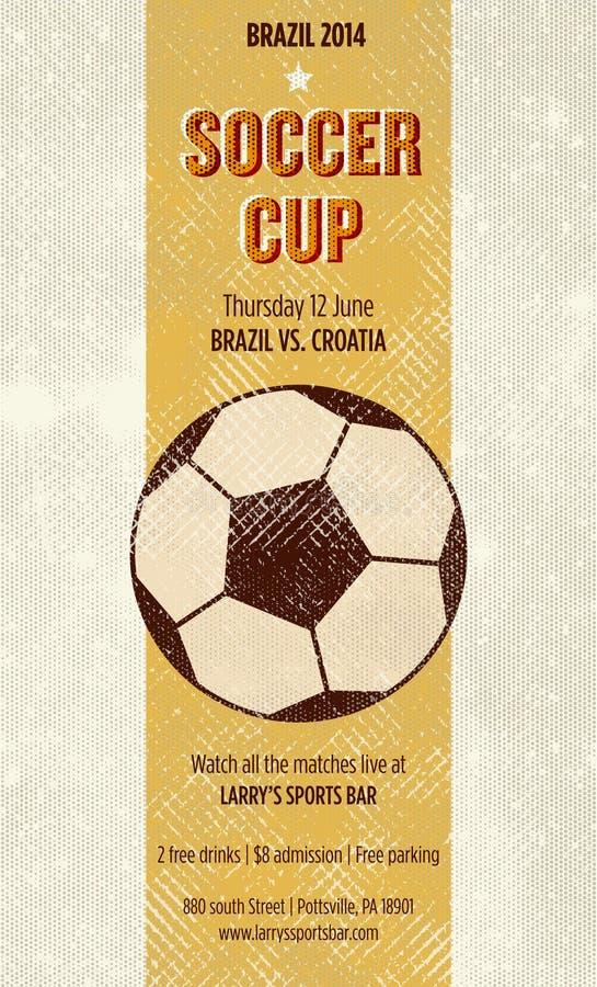 Плакат футбола бара спорт иллюстрация штока