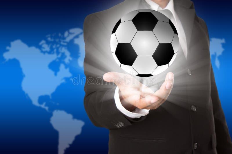 Плакат футбола светлый стоковая фотография rf