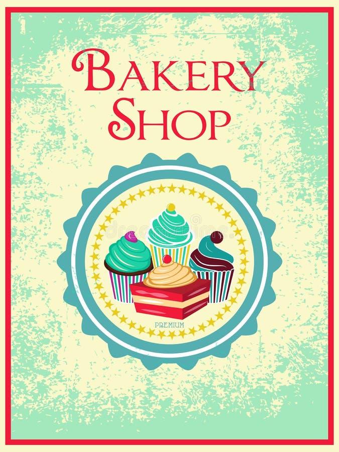 Плакат хлебопекарни иллюстрация штока