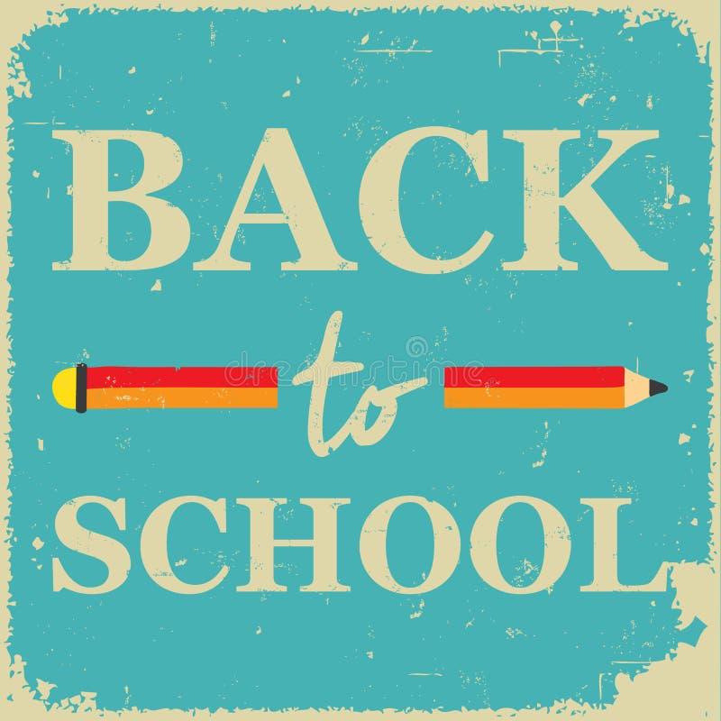 Плакат школы иллюстрация штока