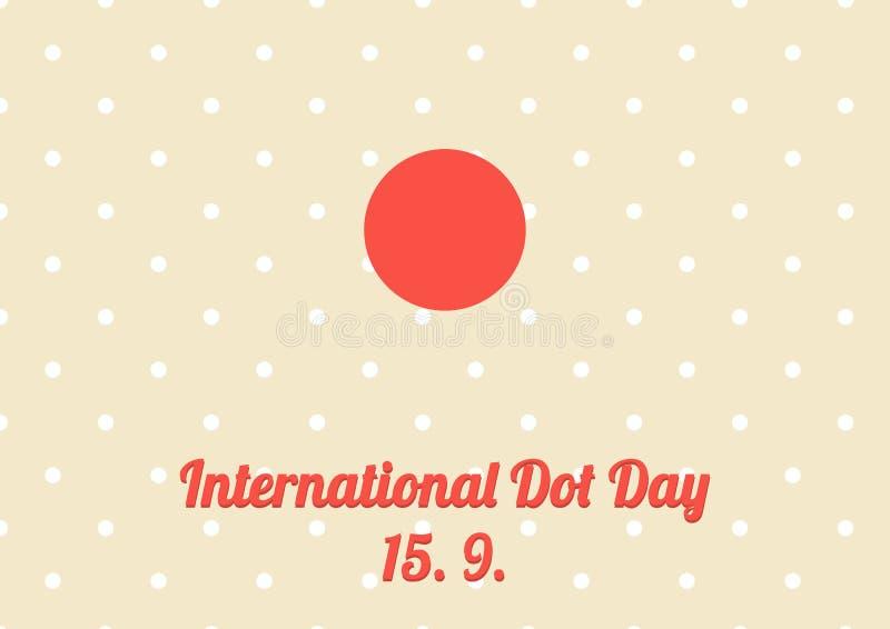 Плакат для ежегодного торжества международного дня точки - Septemb иллюстрация вектора